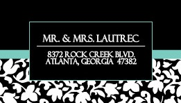 Black and White Floral Address Label