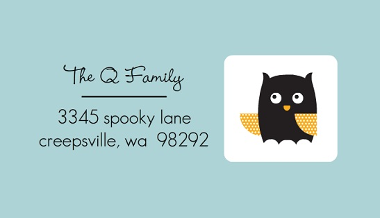 Cute Halloween Animals (Set) Address Label