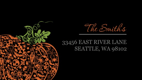 Fancy Pumpkin Address Label