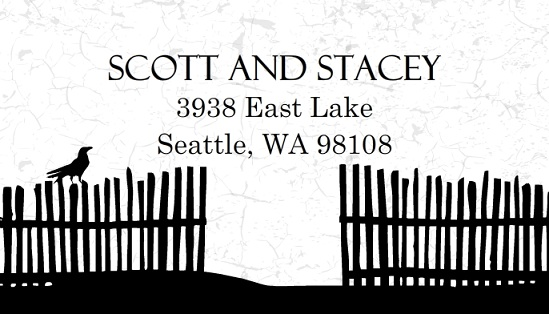 Haunted House Address Label