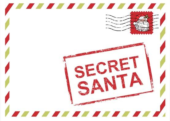 Secret Santa Message Ideas Top secret santa red holiday