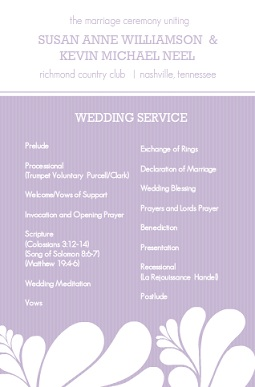 Big And Bold Love (Set) Wedding Program