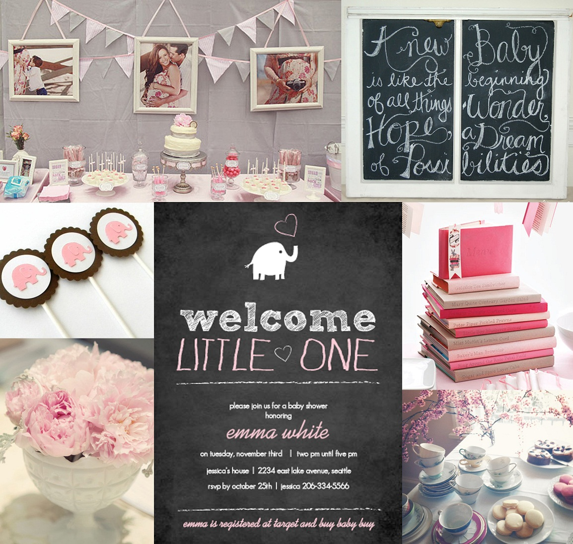 Girl baby shower invitations and inspiration
