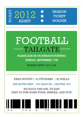 Printable Football Party Invitations is nice invitations design