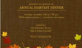 Thanksgiving Dinner Invitation Fall Colors