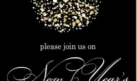 Gold and Black New Years Invitation