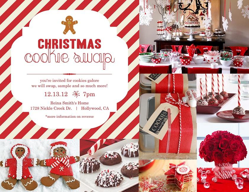 Christmas Cookie Swap l Invitations Inspiration by PurpleTrail – Christmas Cookie Party Invitations