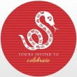 Red Snake Chinese New Year Invite