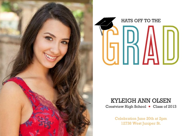 Colorful Custom Graduation Announcement