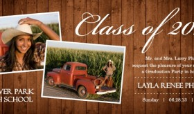 Rustic Custom Graduation Announcement