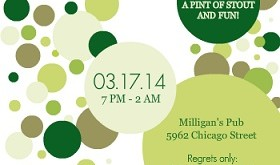 Green Polka Dot St. Patricks Invitation