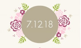 Pink Flowers Save the Date