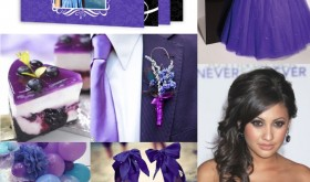 violet quinceanera inspiration board