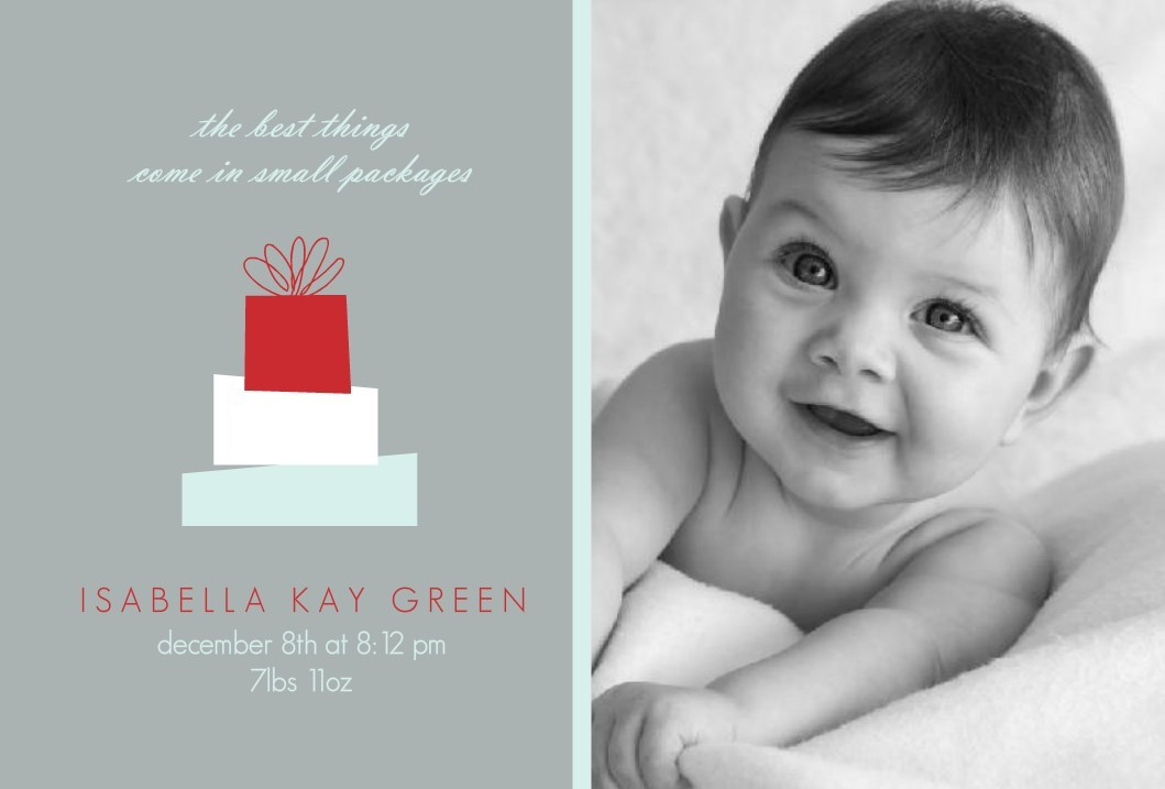 Holiday Birth Announcements New Holiday Templates From PurpleTrail – Holiday Birth Announcements