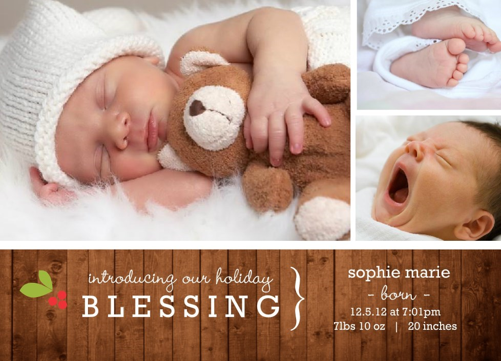 Holiday Birth Announcements New Holiday Templates From PurpleTrail – Photo Birth Announcement